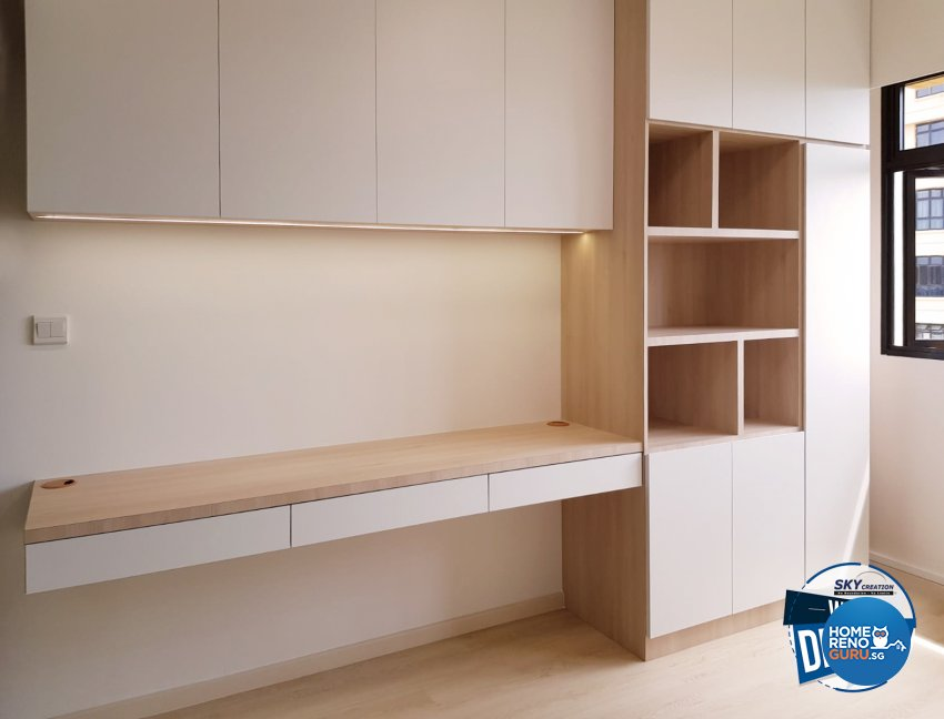 Scandinavian Design - Study Room - HDB 4 Room - Design by Sky Creation