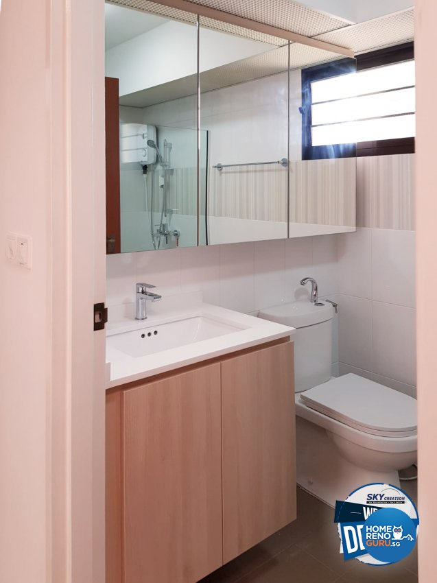 Scandinavian Design - Bathroom - HDB 4 Room - Design by Sky Creation