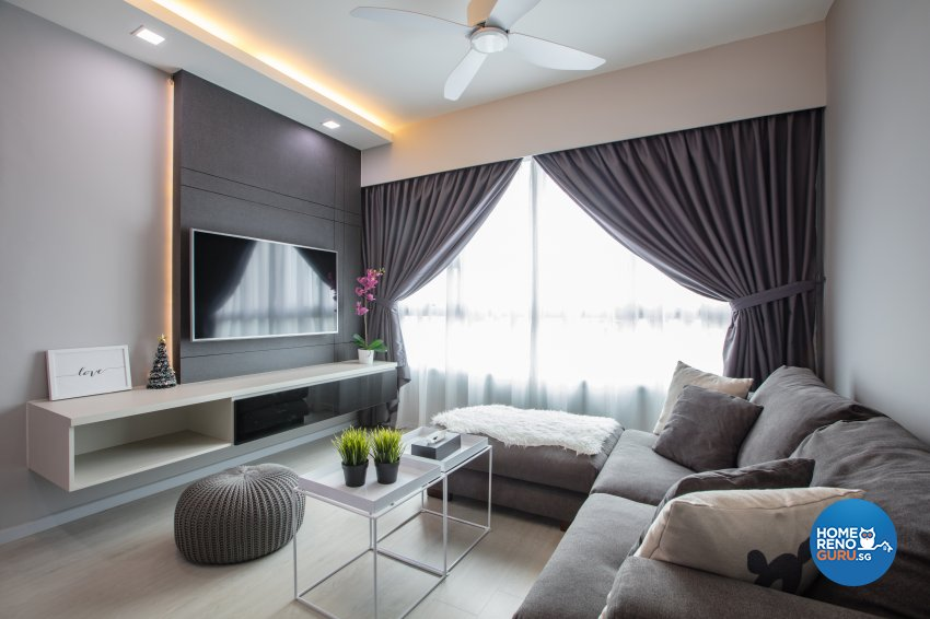 Minimalist Design - Living Room - HDB 4 Room - Design by Sky Creation