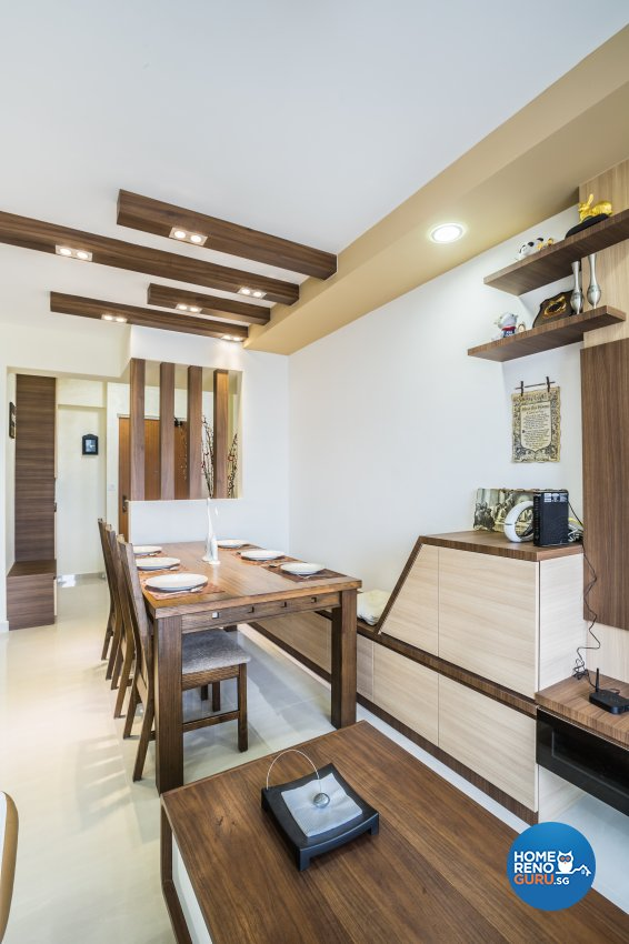 Modern Design - Dining Room - HDB 5 Room - Design by Sky Creation