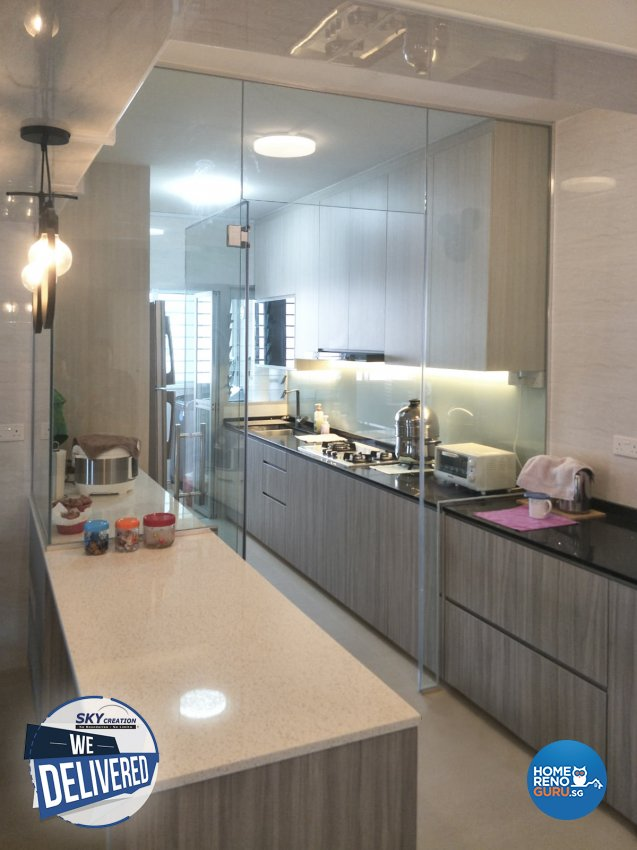 Modern Design - Kitchen - HDB 5 Room - Design by Sky Creation