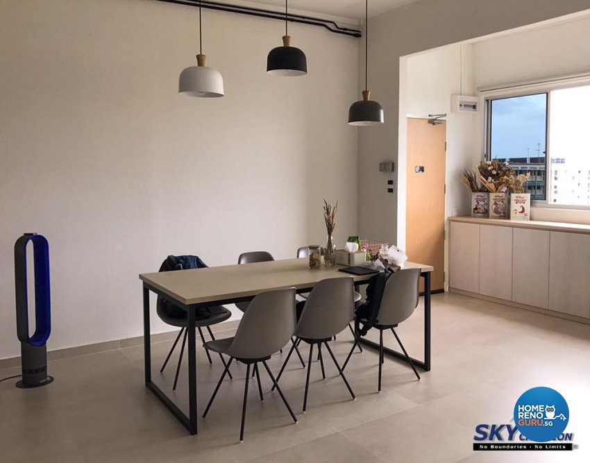 Minimalist Design - Dining Room - HDB 5 Room - Design by Sky Creation
