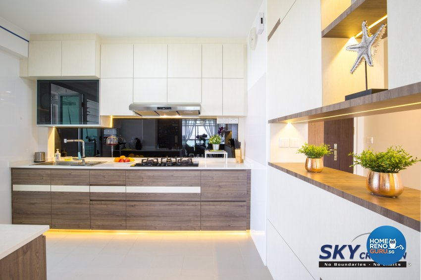 Contemporary, Modern Design - Kitchen - HDB 5 Room - Design by Sky Creation
