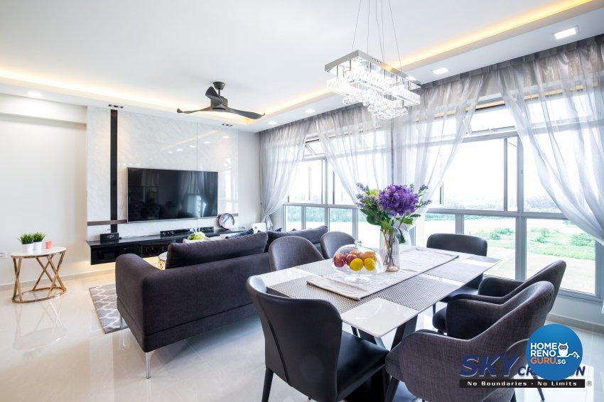 Contemporary, Modern Design - Dining Room - HDB 5 Room - Design by Sky Creation