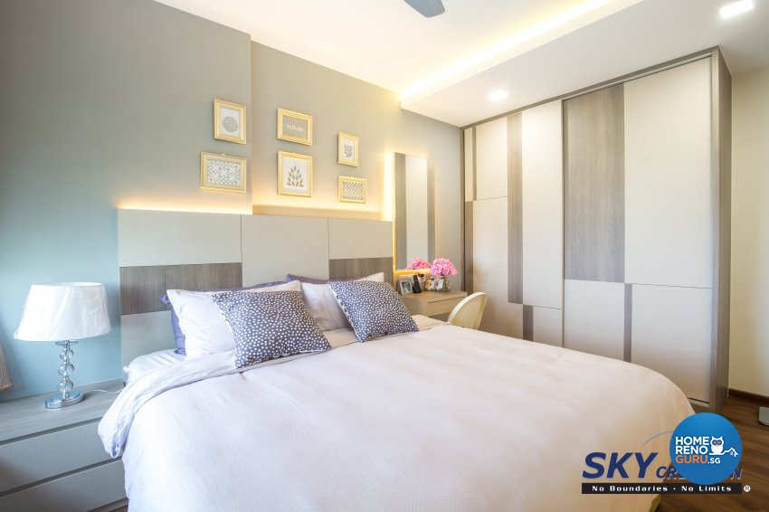 Contemporary, Modern Design - Bedroom - HDB 5 Room - Design by Sky Creation