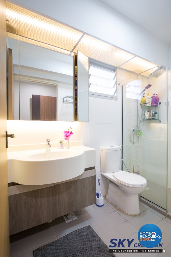 Contemporary, Modern Design - Bathroom - HDB 5 Room - Design by Sky Creation