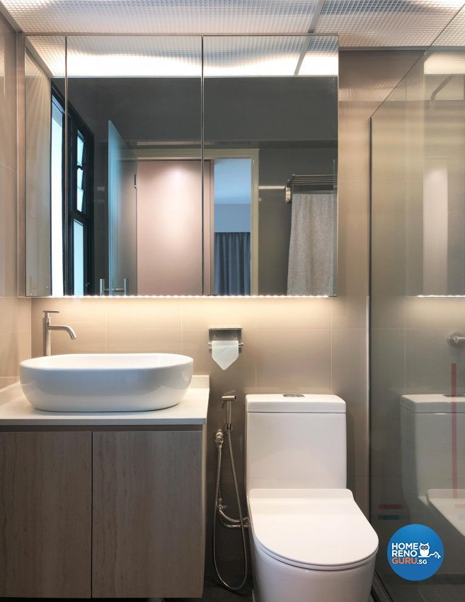 Scandinavian Design - Bathroom - HDB 5 Room - Design by Sky Creation