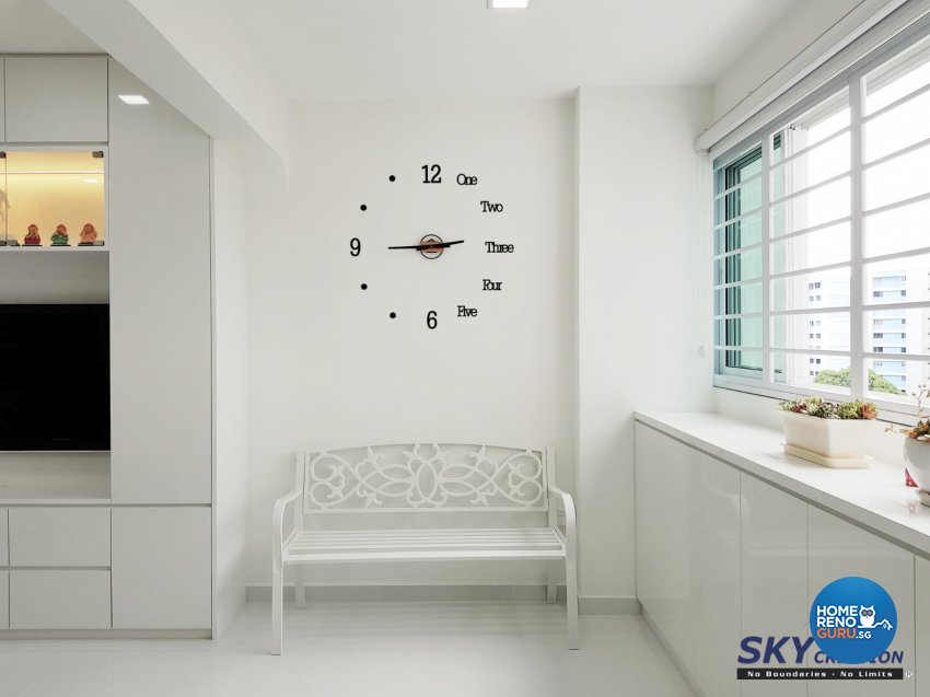Minimalist Design - Living Room - HDB 5 Room - Design by Sky Creation