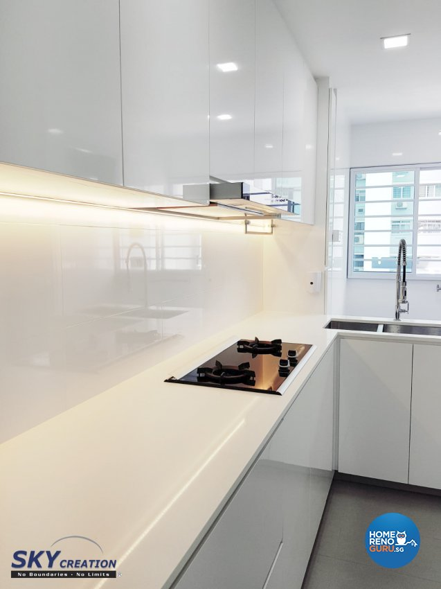Minimalist Design - Kitchen - HDB 5 Room - Design by Sky Creation