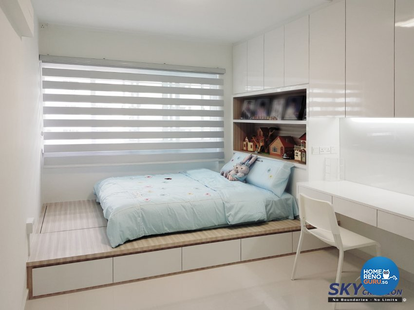 Minimalist Design - Bedroom - HDB 5 Room - Design by Sky Creation