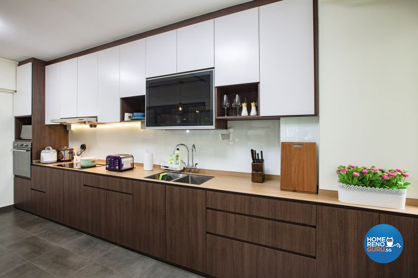 Industrial Design - Kitchen - HDB Executive Apartment - Design by Sky Creation