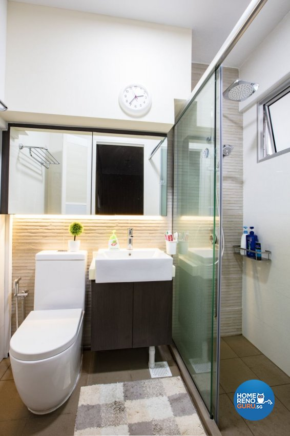 Industrial Design - Bathroom - HDB Executive Apartment - Design by Sky Creation