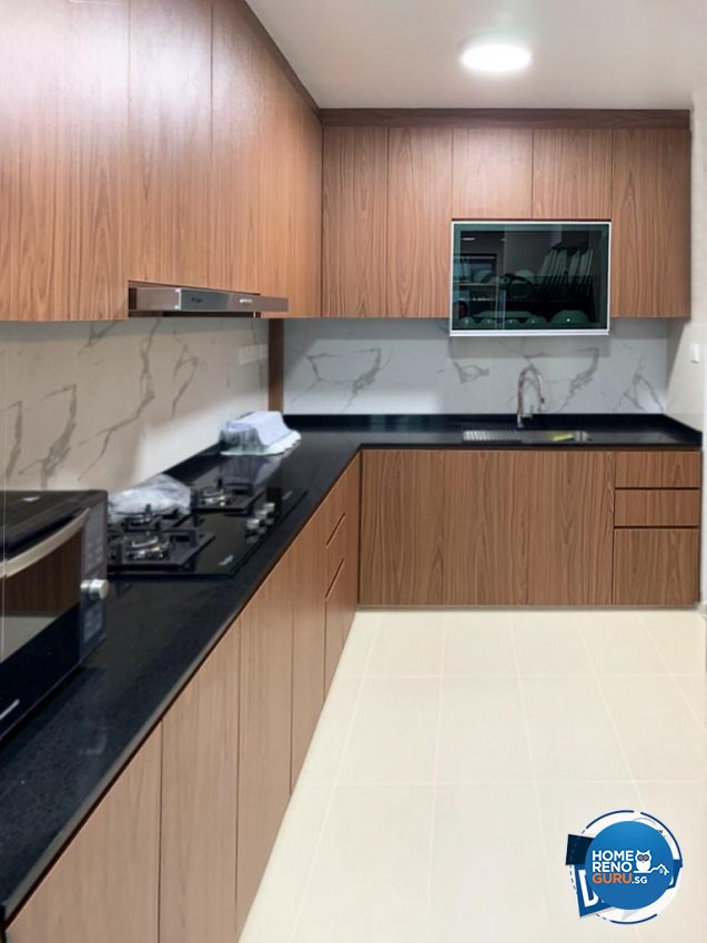 Contemporary Design - Kitchen - HDB 5 Room - Design by Sky Creation