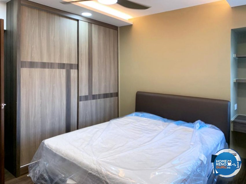 Contemporary Design - Bedroom - HDB 5 Room - Design by Sky Creation