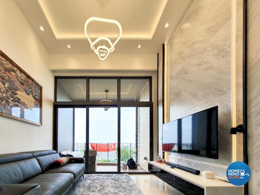 Classical, Contemporary Design - Living Room - Condominium - Design by Sky Creation