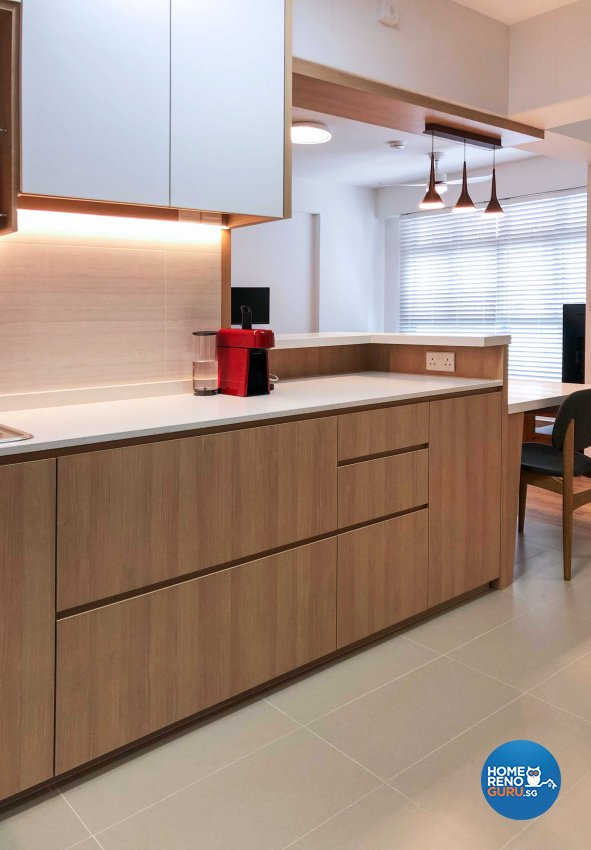 Scandinavian Design - Kitchen - HDB 3 Room - Design by Sky Creation
