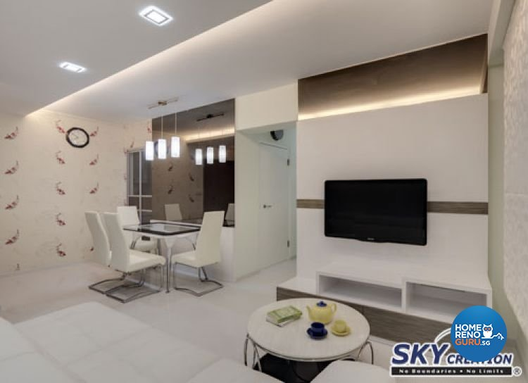 Contemporary, Modern Design - Dining Room - HDB 4 Room - Design by Sky Creation
