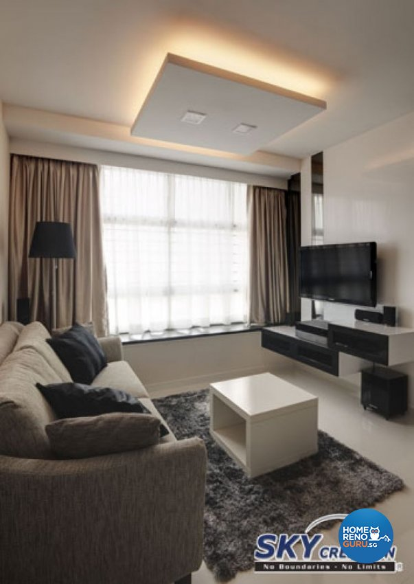 Contemporary, Modern Design - Living Room - HDB 4 Room - Design by Sky Creation
