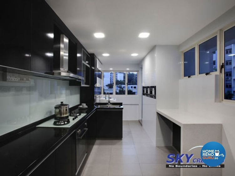 Contemporary, Modern Design - Kitchen - HDB 4 Room - Design by Sky Creation