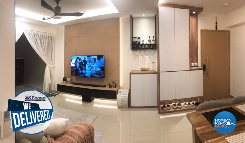Scandinavian Design - Living Room - Condominium - Design by Sky Creation