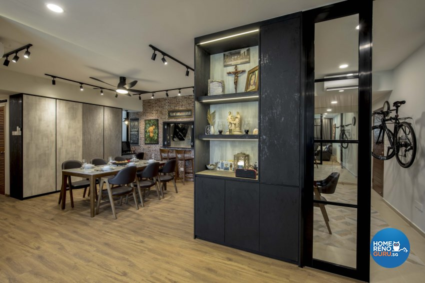 Industrial Design - Dining Room - Condominium - Design by Sky Creation