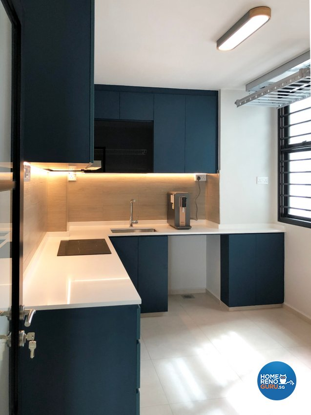 Modern Design - Kitchen - HDB 4 Room - Design by Sky Creation