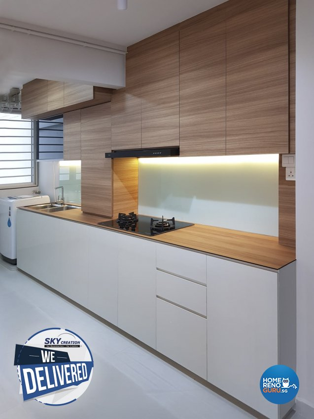 Scandinavian Design - Kitchen - HDB 5 Room - Design by Sky Creation
