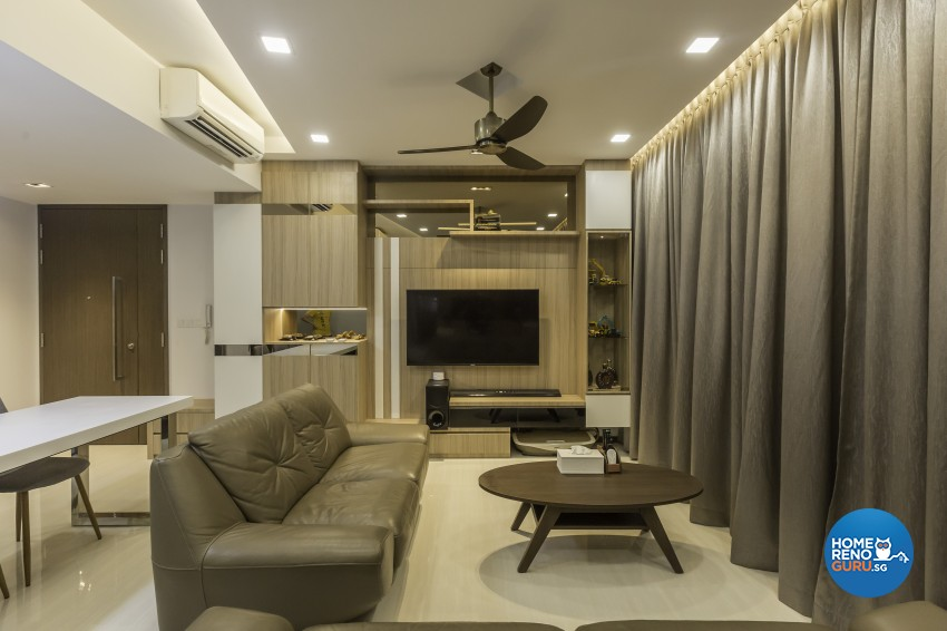 Contemporary, Modern Design - Living Room - Condominium - Design by Sky Creation