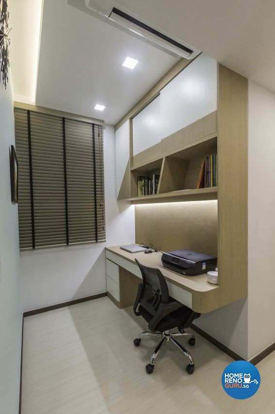 Contemporary, Modern Design - Study Room - Condominium - Design by Sky Creation