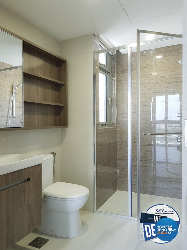 Scandinavian Design - Bathroom - Condominium - Design by Sky Creation