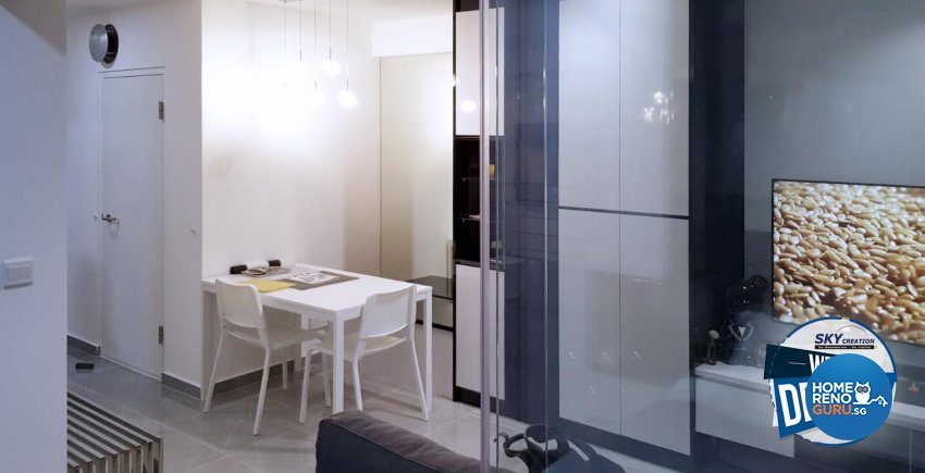 Modern Design - Dining Room - HDB Studio Apartment - Design by Sky Creation