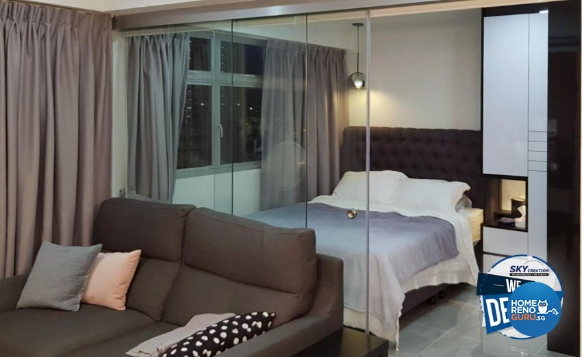Modern Design - Bedroom - HDB Studio Apartment - Design by Sky Creation