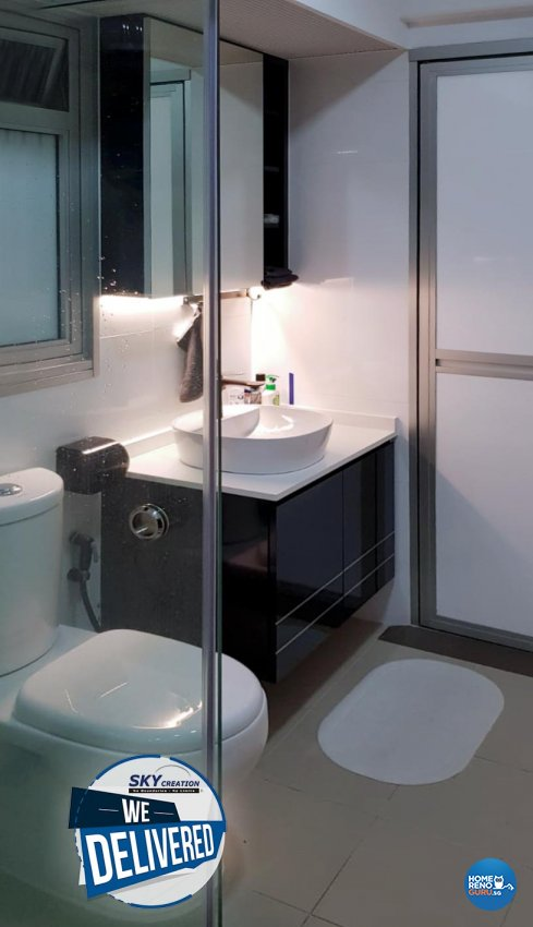 Modern Design - Bathroom - HDB Studio Apartment - Design by Sky Creation