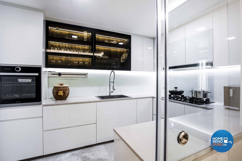 Contemporary Design - Kitchen - Condominium - Design by Sky Creation