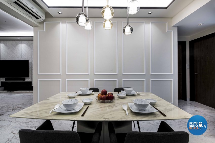 Contemporary Design - Dining Room - Condominium - Design by Sky Creation