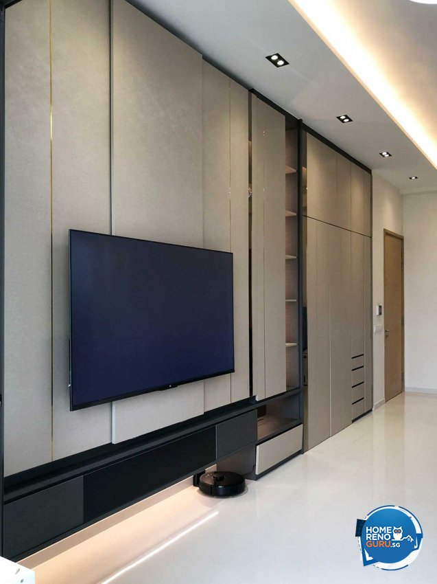 Contemporary Design - Living Room - Condominium - Design by Sky Creation