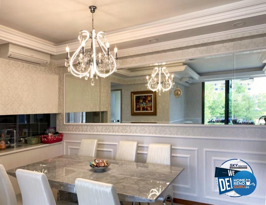 Classical, Country, Victorian Design - Dining Room - HDB Executive Apartment - Design by Sky Creation