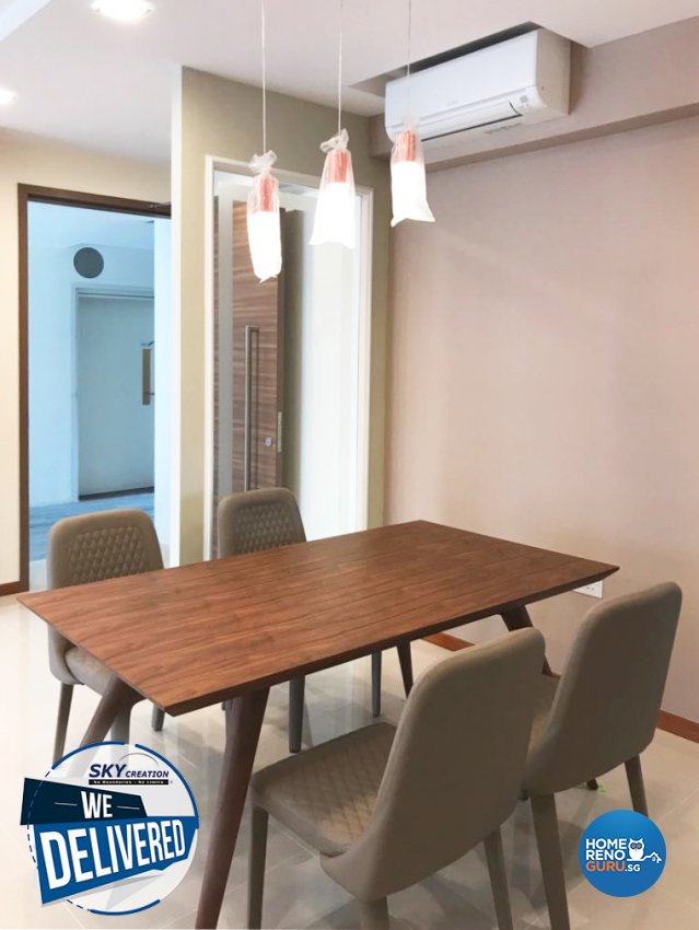 Minimalist, Scandinavian Design - Dining Room - HDB Executive Apartment - Design by Sky Creation