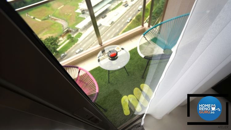 Contemporary, Modern Design - Balcony - Condominium - Design by Space Atelier Pte Ltd