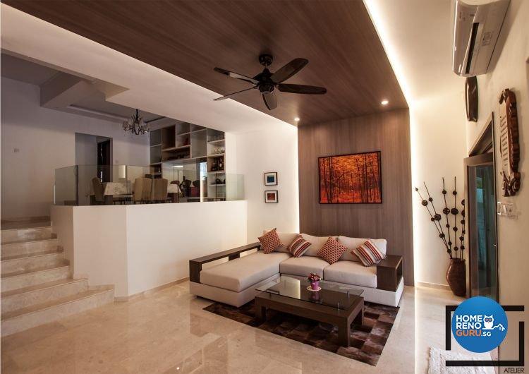 Modern, Rustic Design - Living Room - Landed House - Design by Space Atelier Pte Ltd