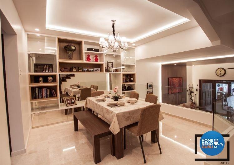 Modern, Rustic Design - Dining Room - Landed House - Design by Space Atelier Pte Ltd