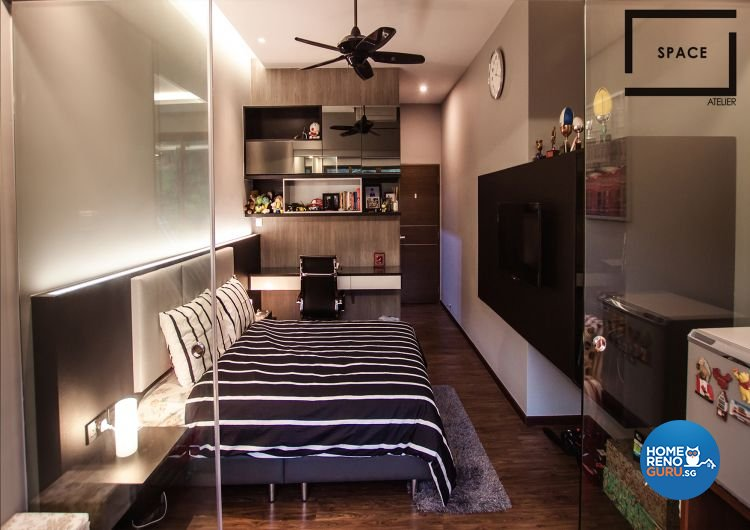 Modern, Rustic Design - Bedroom - Landed House - Design by Space Atelier Pte Ltd