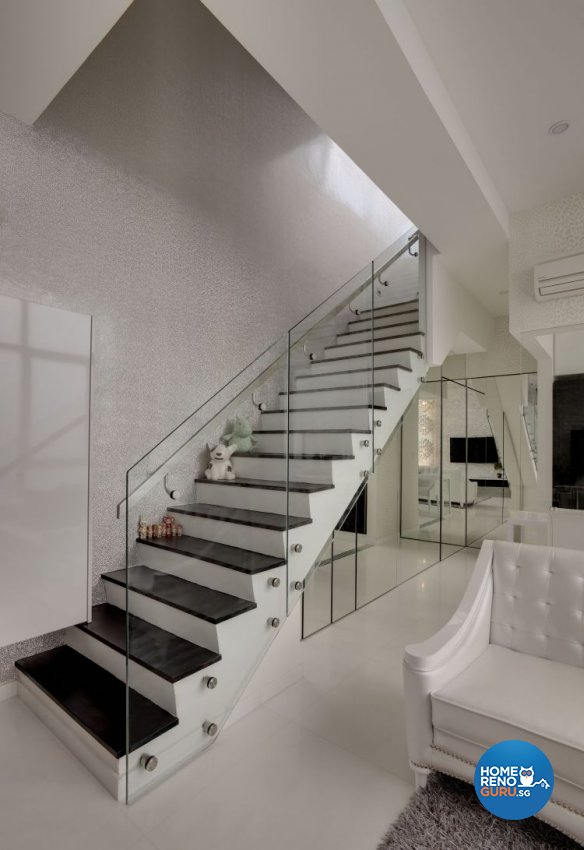Minimalist, Modern Design - Living Room - Condominium - Design by Space Atelier Pte Ltd