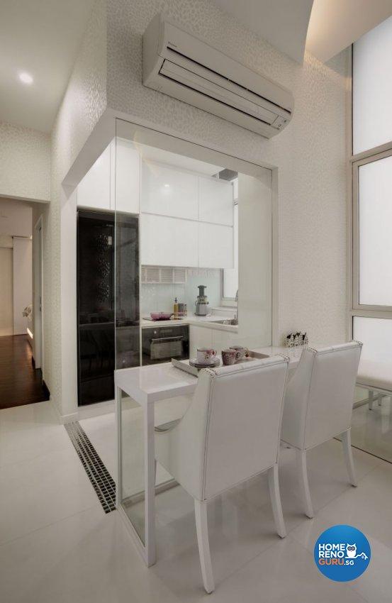 Minimalist, Modern Design - Dining Room - Condominium - Design by Space Atelier Pte Ltd
