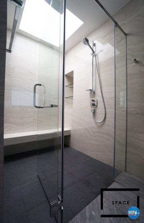 Contemporary, Modern Design - Bathroom - Landed House - Design by Space Atelier Pte Ltd