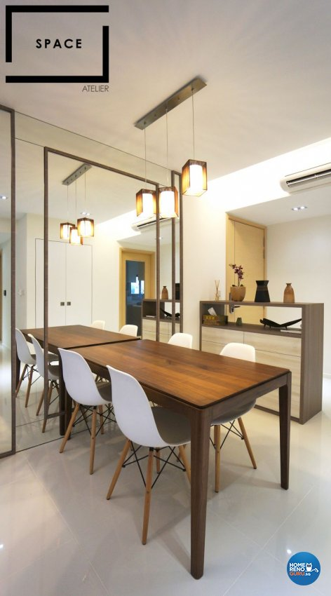 Minimalist, Modern, Scandinavian Design - Dining Room - Condominium - Design by Space Atelier Pte Ltd