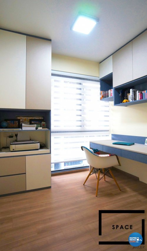 Minimalist, Modern, Scandinavian Design - Study Room - Condominium - Design by Space Atelier Pte Ltd