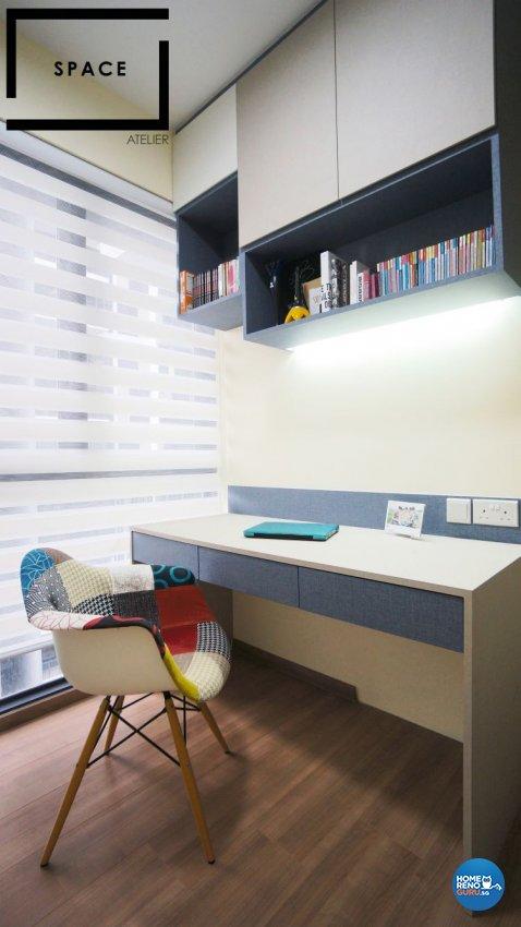 Minimalist, Modern, Scandinavian Design - Study Room - Condominium - Design by Space Atelier Pte Ltd