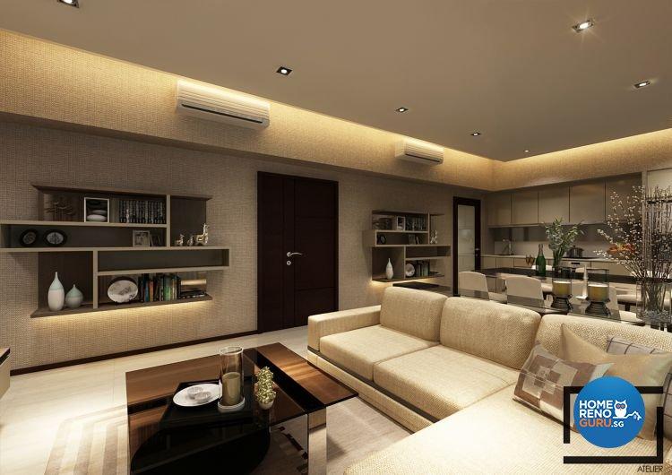 Contemporary, Modern Design - Living Room - Condominium - Design by Space Atelier Pte Ltd