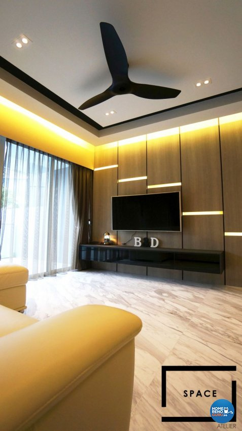 Contemporary, Modern Design - Living Room - Condominium - Design by Space Atelier Pte Ltd